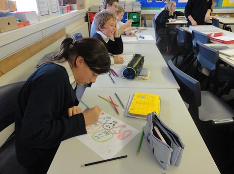Making posters to celebrate the 2012 Olympics_Study In China